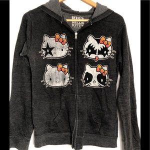 Hello Kitty Kiss Hoodie Jacket Juniors Large